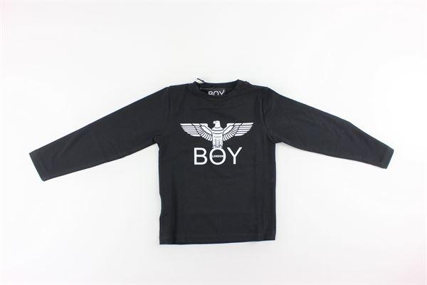 shirt tinta unita con stampa BOY LONDON | Shirts | TSBL183204JNERO