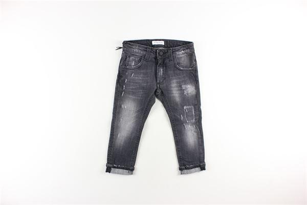 jeans tinta unita 5 tasche girovita regolabile BRIAN RUSH   Jeans   DENIM11GRIGIO