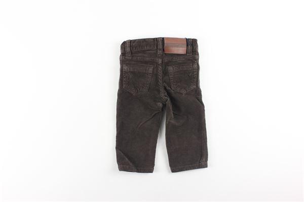 pantalone in velluto tinta unita con girovita regolabile BROOKSFIELD | Pantaloni | PA53MARRONE