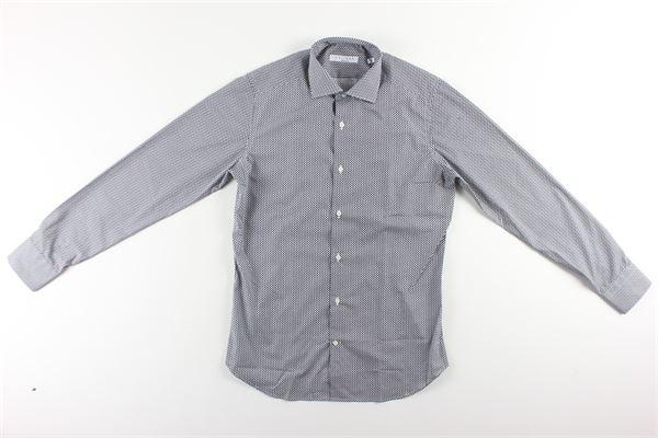 camicia manica lunga tinta unita stampa fantasia CALIBAN | Camicie | 1US3FSUFY1NERO