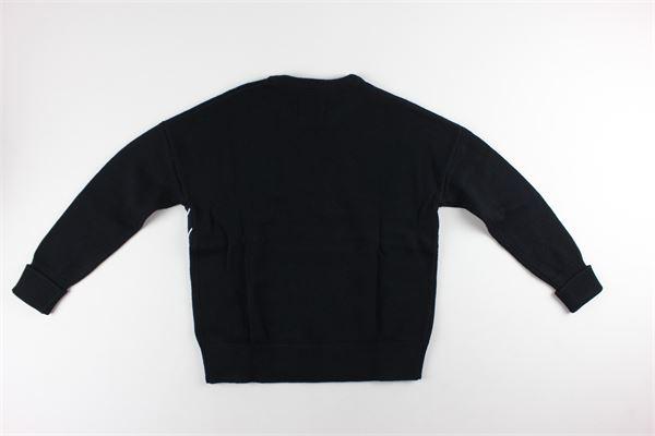 maglia tinta unita con stampa CALVIN KLEIN | Maglie | IGOIGOO74NERO