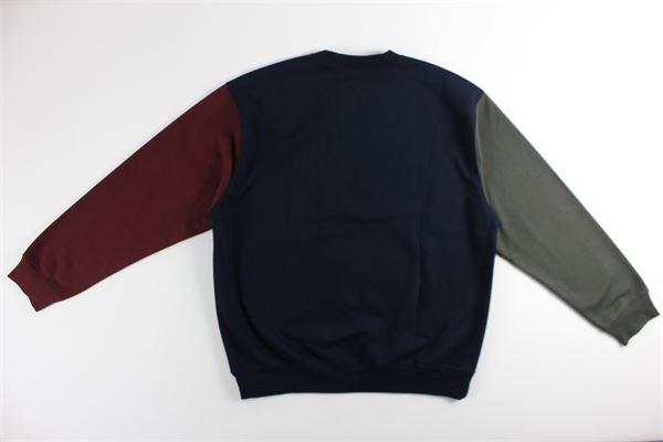 felpa tricolore girocollo tinta unita con logo CARHARTT | Felpe | I028274BLU