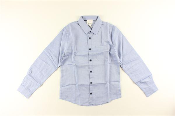 camicia tinta unita manica lunga con taschino CARRE'MENT BEAU | Camicie | 1Y25X22.7CELESTE