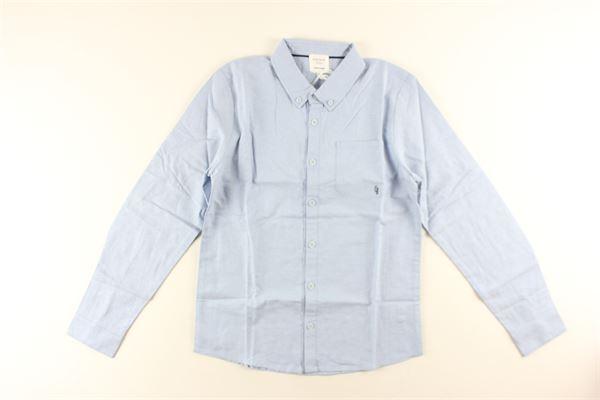 camicia tinta unita manica lunga con taschino CARRE'MENT BEAU | Camicie | Y25Z02/79LCELESTE