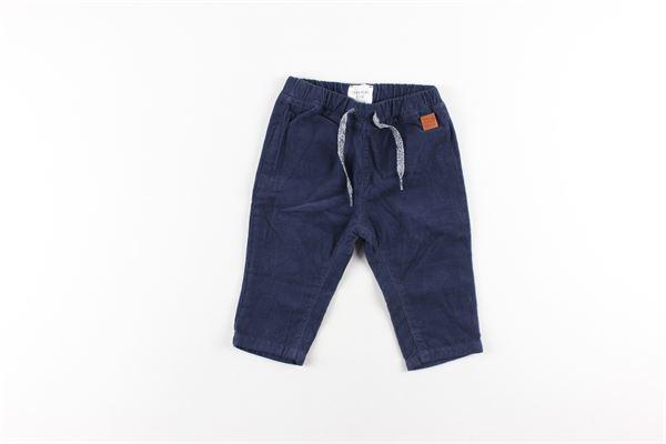 pantalone tinta unita elasticoin vita CARRE'MENT BEAU | Pantaloni | Y94140BLU