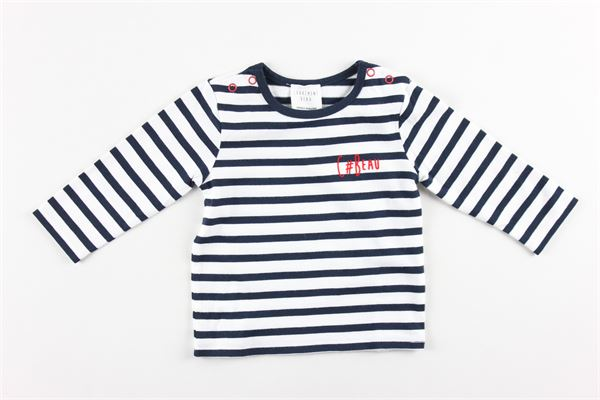 shirt tinta unita con fantasia a righe 100%cotone CARRE'MENT BEAU | Shirts | Y95250BLU