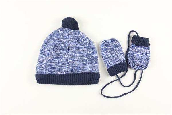 cappello tinta unita con guanti CARRE'MENT BEAU | Cappelli | Y98062BLU