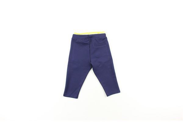 pantalone acetato tinta unita con elastico in vita in contrasto CESARE PACIOTTI | Pantaloni | PFP9306BBLU