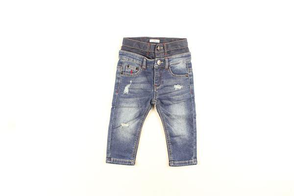 jeans tinta unita con doppio girovita CESARE PACIOTTI | Jeans | PJP183904BBLU