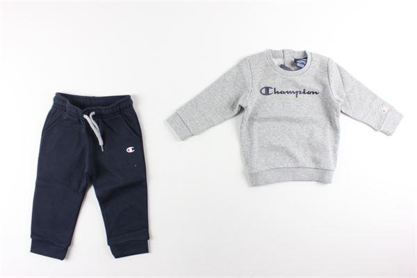 completo felpa+ pantalone tuta CHAMPION | Completi | 3054200GRIGIO