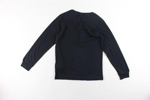shirt tinta unita con stampa CHAMPION | Shirts | 305443NERO