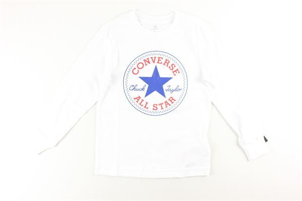 shirt tinta unita con stampa CONVERSE | Shirts | 866243BIANCO