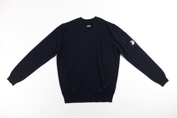 maglia girocollo tinta unita C.P. COMPANY | Maglie | 09CMKN100ABLU