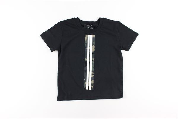 t-shirt tinta unita con stampa NEIL BARRETT | T-shirts | 025897NERO