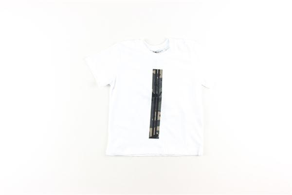 shirt tinta unita con stampa DANIELE ALESSANDRINI | Shirts | 026329BIANCO