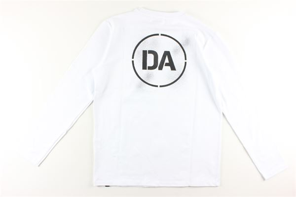 shirt tinta unita con stampa DANIELE ALESSANDRINI | Shirts | 1231M0879BIANCO