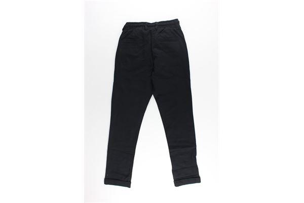 pantalone tinta unita elastico in vita DANIELE ALESSANDRINI | Pantaloni | 1231P0986NERO