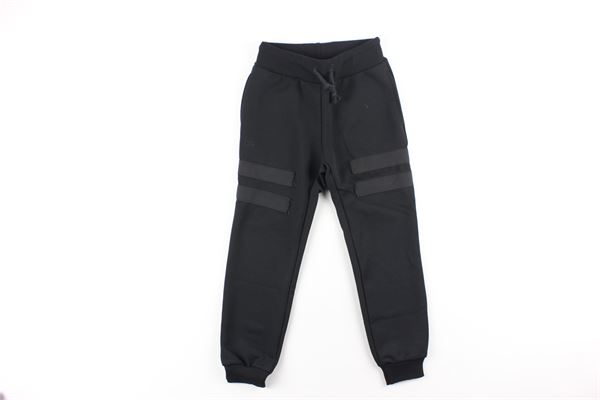 pantalone tuta tinta unita fantasia nido d'api DANIELE ALESSANDRINI | Pantaloni | 1231PF0440NERO