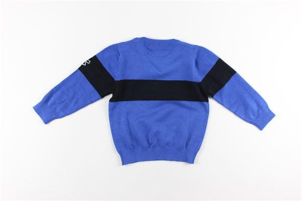 maglia girocollo con stampa logo DANIELE ALESSANDRINI | Maglie | 1231W0843BLU ELETTRICO