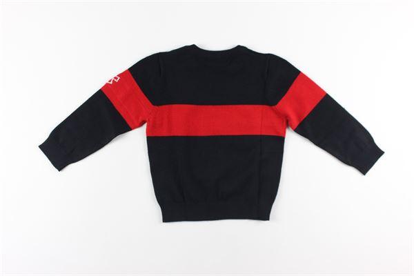maglia girocollo con stampa logo DANIELE ALESSANDRINI | Maglie | 1231W0843NERO