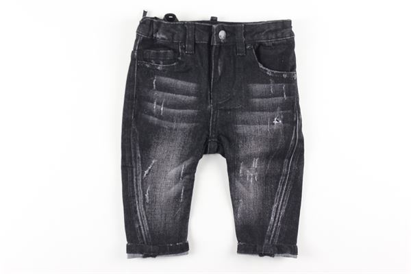 jeans 5 tasche tinta unita girovita regolabile DANIELE ALESSANDRINI | Jeans | 1291D0566NERO
