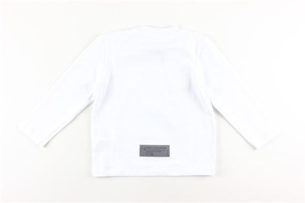 shirt tinta unita con stampa DANIELE ALESSANDRINI | Shirts | 1291M0487BIANCO