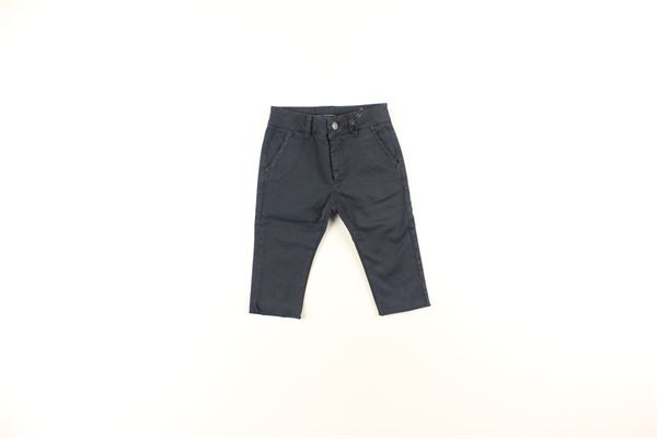 pantalone tinta unita microfantasia DANIELE ALESSANDRINI | Pantaloni | 1291P0178BLU