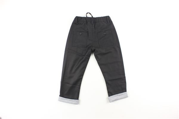 pantalone tinta unita con elastico in vita DANIELE ALESSANDRINI | Pantaloni | 1291P0217NERO