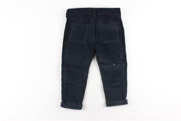 pantalone tinta unita in velluto a costine girovita regolabile DANIELE ALESSANDRINI | Pantaloni | 1291P0544NERO