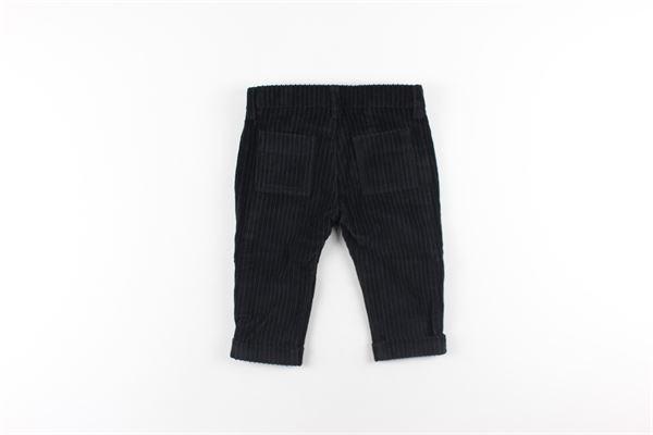pantalone tinta unita 5 tasche in velluto a costine DANIELE ALESSANDRINI | Pantaloni | 1291P0560NERO