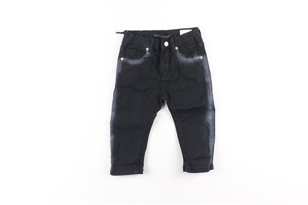 pantalone tinta unita 5 tasche girovita regolabile DANIELE ALESSANDRINI | Pantaloni | 1291P0578NERO