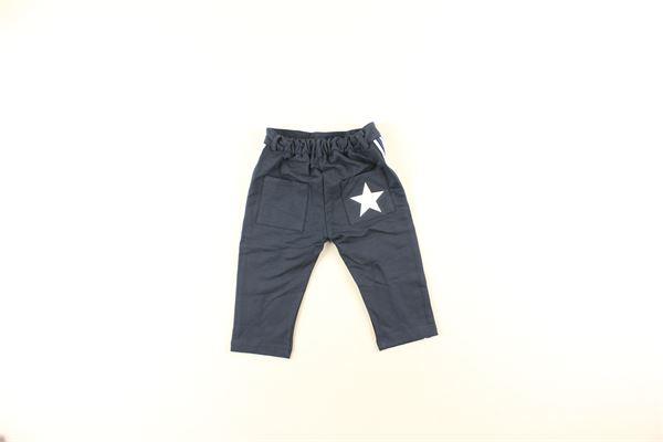 pantalone tinta unita con profili in contrasto DANIELE ALESSANDRINI | Pantaloni | 1291PF0140BLU