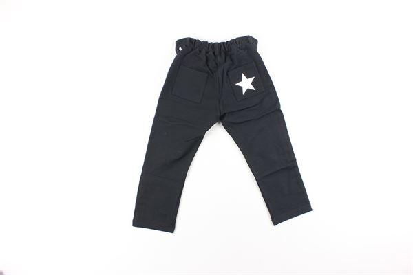 pantalone tinta unita con profili in contrasto DANIELE ALESSANDRINI | Pantaloni | 1291PF0140NERO