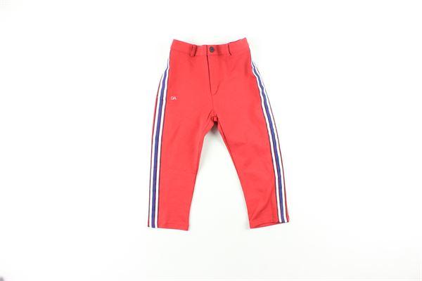 pantalone tinta unita con profili in contrasto DANIELE ALESSANDRINI | Pantaloni | 1291PF0140ROSSO