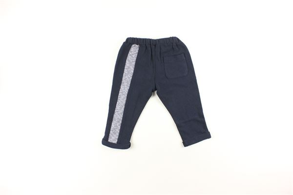 pantalone tinta unita con profili in contrasto DANIELE ALESSANDRINI | Pantaloni | 1291PF0173BLU
