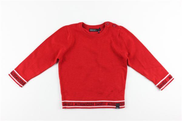 maglia tinta unita girocollo DANIELE ALESSANDRINI | Maglie | 1291W0477ROSSO