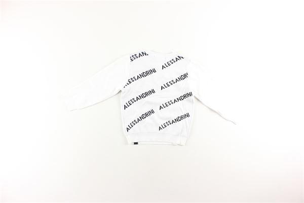 maglia girocollo tinta unita con stampa logo DANIELE ALESSANDRINI | Maglie | 1291W05544BIANCO