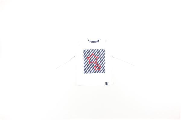 shirt  tinta unita con stampa DANIELE ALESSANDRINI | Shirts | 129M0196BIANCO
