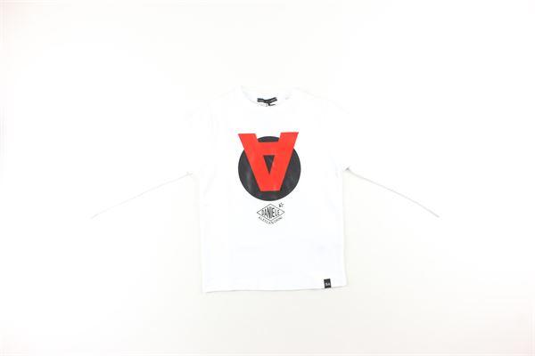 shirt tinta unita con stampa DANIELE ALESSANDRINI | Shirts | 7435T0088TBIANCO