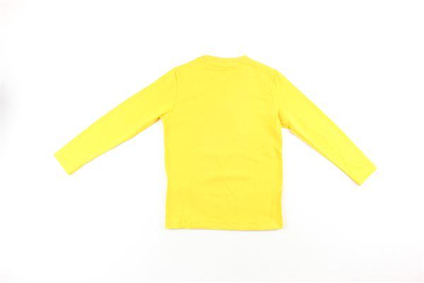 shirt tinta unita con stampa DANIELE ALESSANDRINI | Shirts | 7435T0088TGIALLO