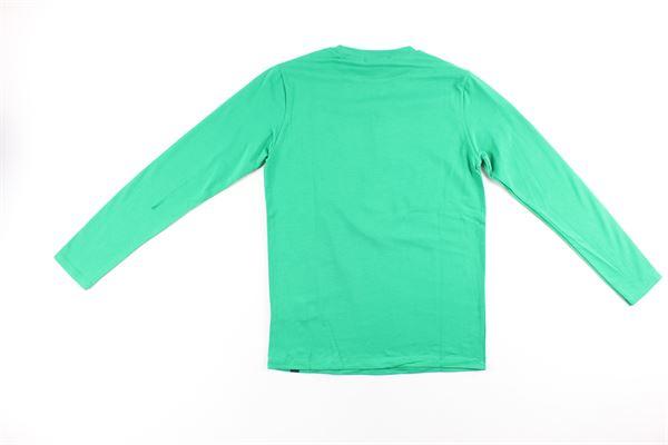 shirt tinta unita con stampa DANIELE ALESSANDRINI | Shirts | 7435T0088TVERDE