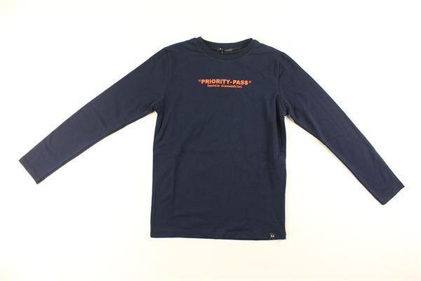 shirt tinta unita con stampa DANIELE ALESSANDRINI | Shirts | 7435T0125TBLU