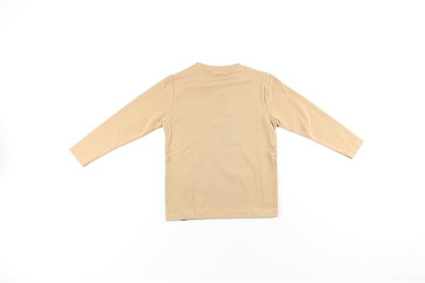 shirt tinta unita con stampa DANIELE ALESSANDRINI | Shirts | ALE01BEIGE
