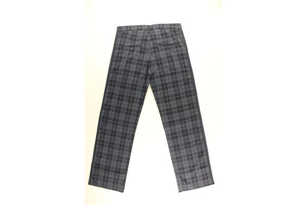 pantalone tinta unita fantasia quadri DANIELE ALESSANDRINI | Pantaloni | ALE04BLU