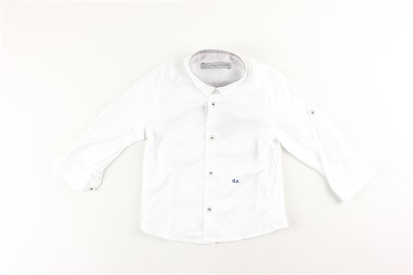 camicia in cotone tinta unita DANIELE ALESSANDRINI | Camicie | CAM3BIANCO