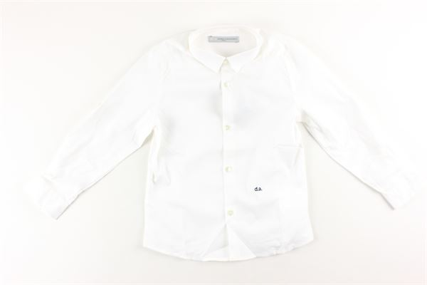 camicia in cotone tinta unita DANIELE ALESSANDRINI | Camicie | CAM5BIANCO
