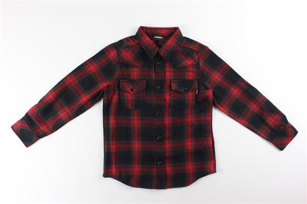DIESEL   Shirts   00J4XXROSSO