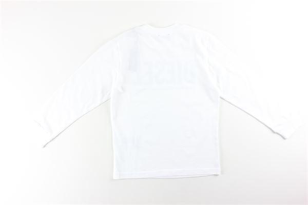 shirt tinta unita con stampa DIESEL | Shirts | 00J4Y0BIANCO