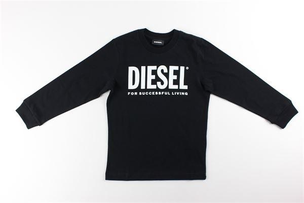 shirt tinta unita con stampa DIESEL | Shirts | 00J4Y0NERO