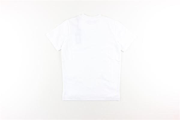t-shirt tinta unita con stampa DIESEL | T-shirts | 00J4Y3BIANCO